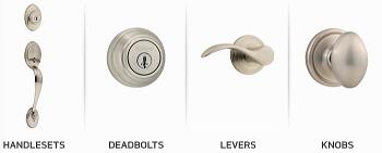 handlesets、deadbolts、levers、knobs