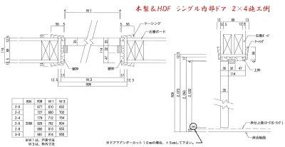 画像2: HDF製室内ドア 2P