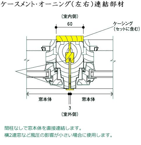 画像1: アンダーセン窓 400S ケースメント・オーニング連結部材 (1)
