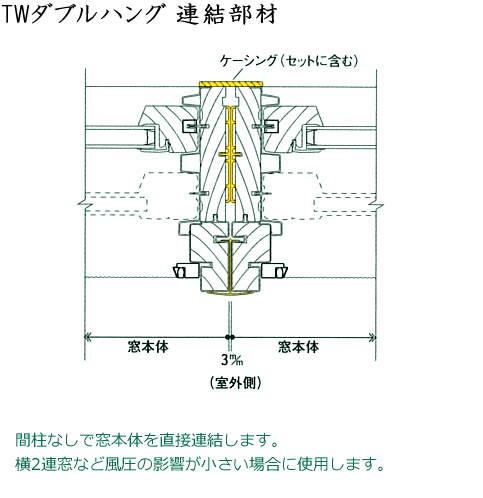 画像1: アンダーセン窓 400S TWダブルハング連結部材 (1)
