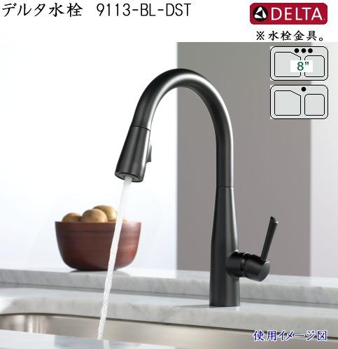 画像1: DELTA デルタ水栓 9113-BL-DST (1)