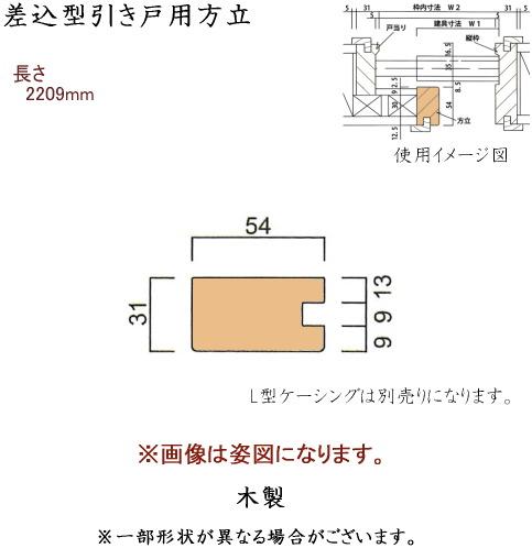 画像1: 差込型引き戸用方立 (1)