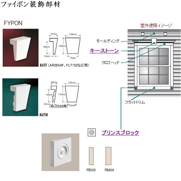 画像1: ファイポン装飾部材 キーストン、プリンスブロック (1)