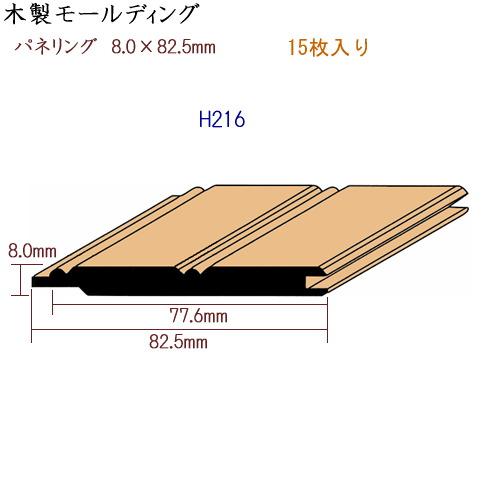 画像1: 木製 パネリング H216 (1)