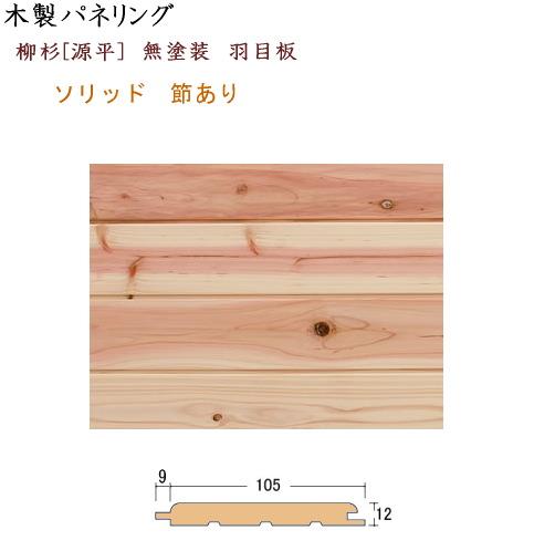 画像1: 柳杉[源平] パネリング 12×105 無塗装 (1)