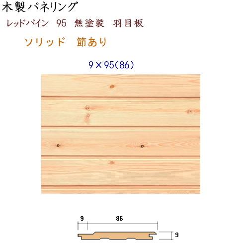 画像1: レッドパイン パネリング 9×86 無塗装 (1)