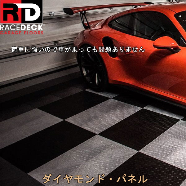 画像1: レースデッキ ダイヤモンド・パネル(店舗展示ガレージ用フロアータイル) (1)