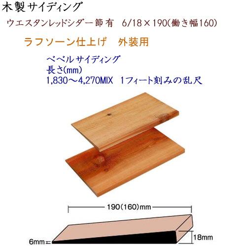 画像1: 節有ベベルサイディング 6/18×190 (1)