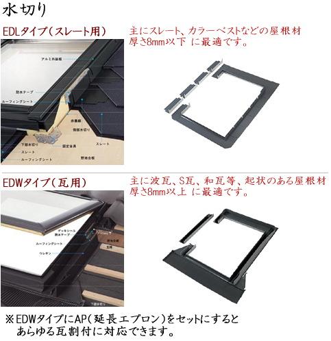 画像1: ベルックス天窓部材 水切り (1)