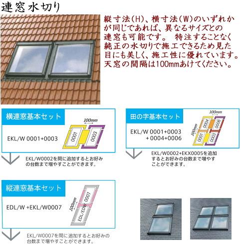 画像1: ベルックス天窓部材 連窓水切り (1)