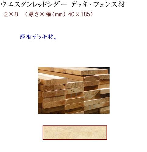 画像1: ガーデンウッド ウエスタンレッドシダー デッキ・フェンス材 2×8 (1)